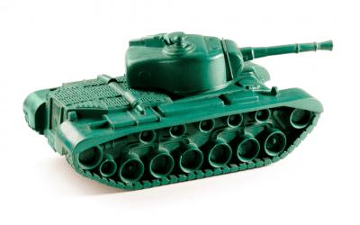 Ein grüner Panzer rollt über die Koalition